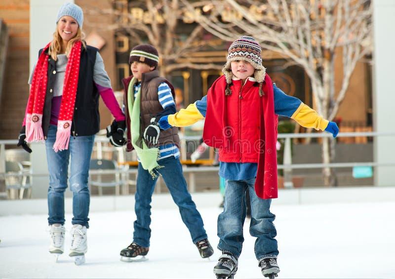 Skating at the rink royalty free stock image