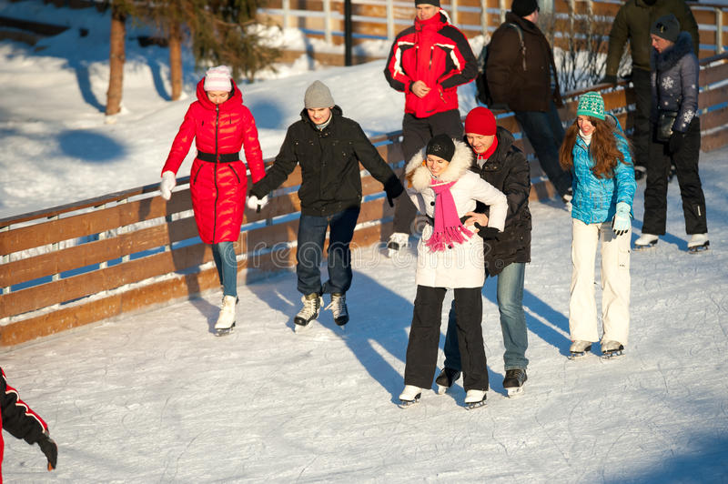 Download Skating rink in Gorky Park editorial stock image. Image of outside - 28336284
