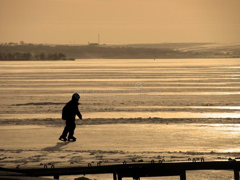 Download Skating on a river stock photo. Image of horizon, skates - 12903618