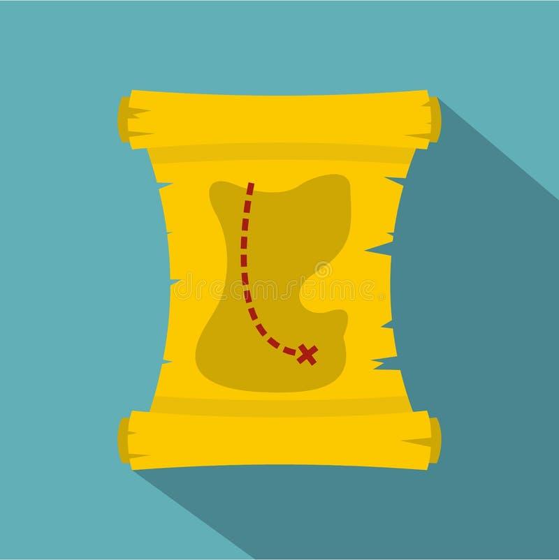 Skattöversiktssymbol, lägenhetstil vektor illustrationer
