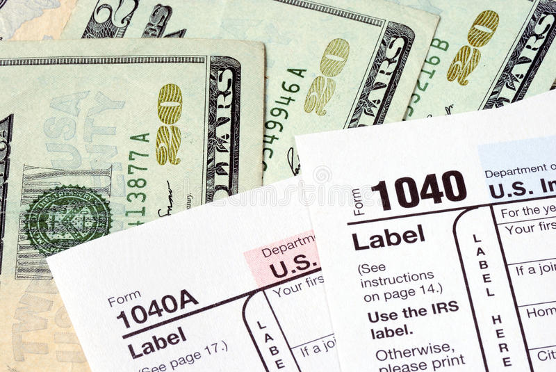 skatt för inkomstpayretur fotografering för bildbyråer