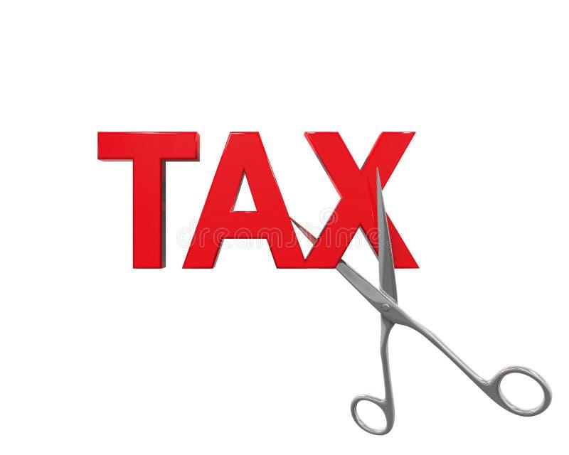 Skattesänkningbegrepp royaltyfri illustrationer