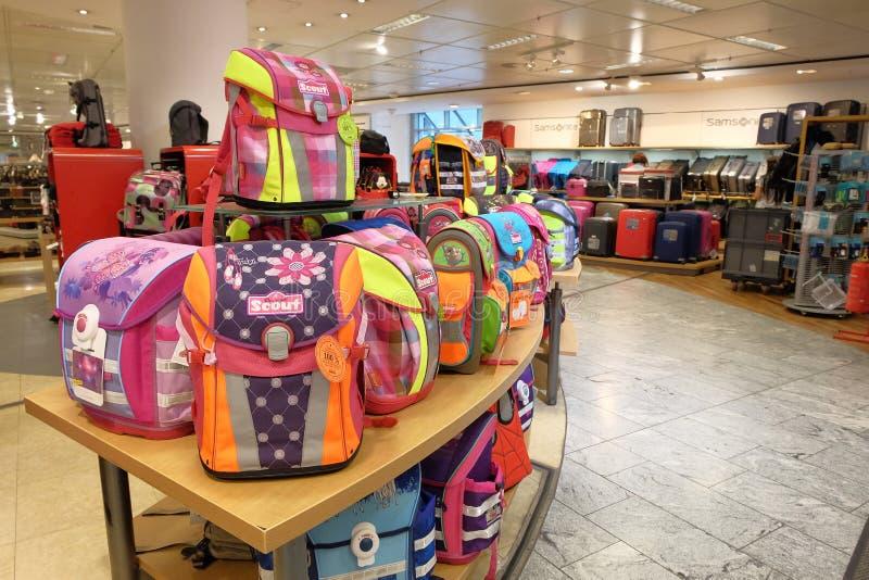Skautowscy szkolni satchels obrazy stock