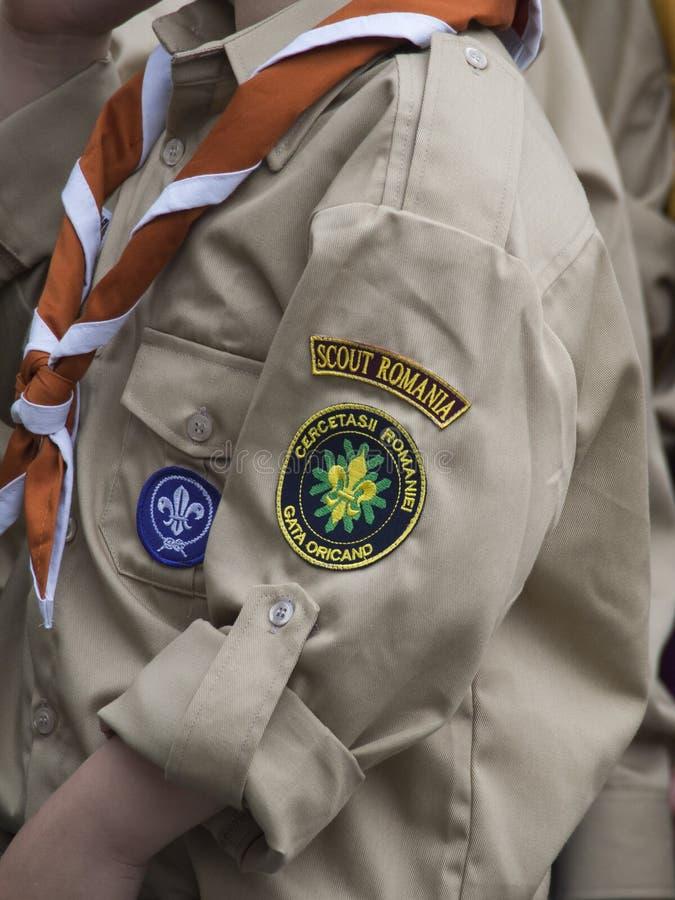 Skautowski mundur zdjęcie stock