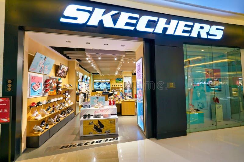Contar Agricultura Agente de mudanzas  Skechers store editorial stock photo. Image of footwear - 174390753