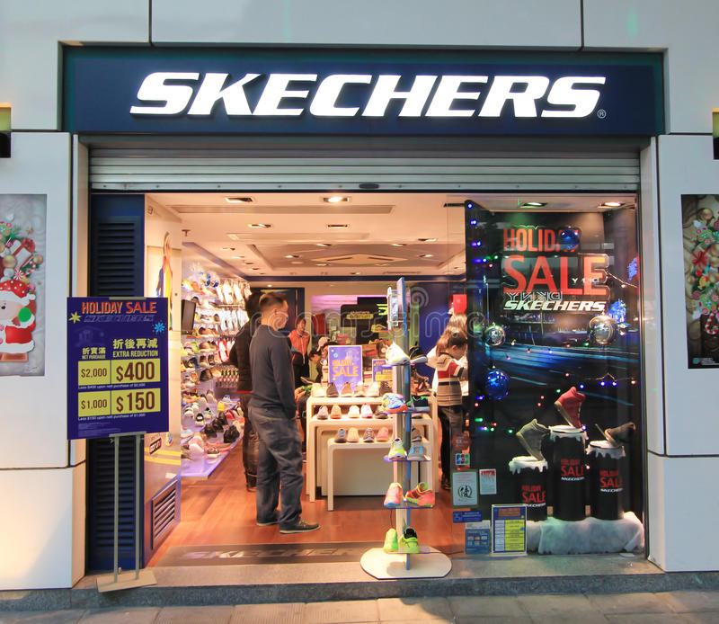 Hong Kong Shopping: Skechers Shop In Hong Kveekoong Editorial Stock Photo
