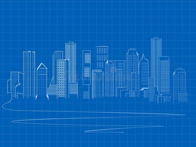 Skecth dei grattacieli illustrazione di stock