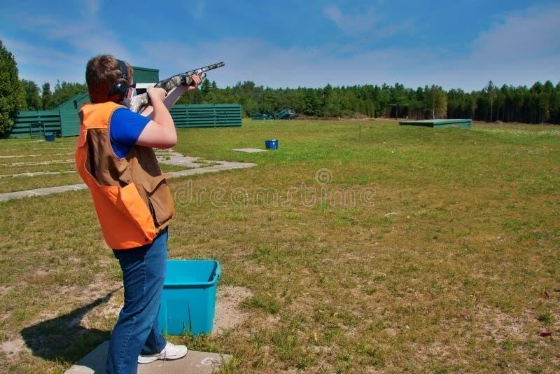 Skeet shooting royalty free stock photography