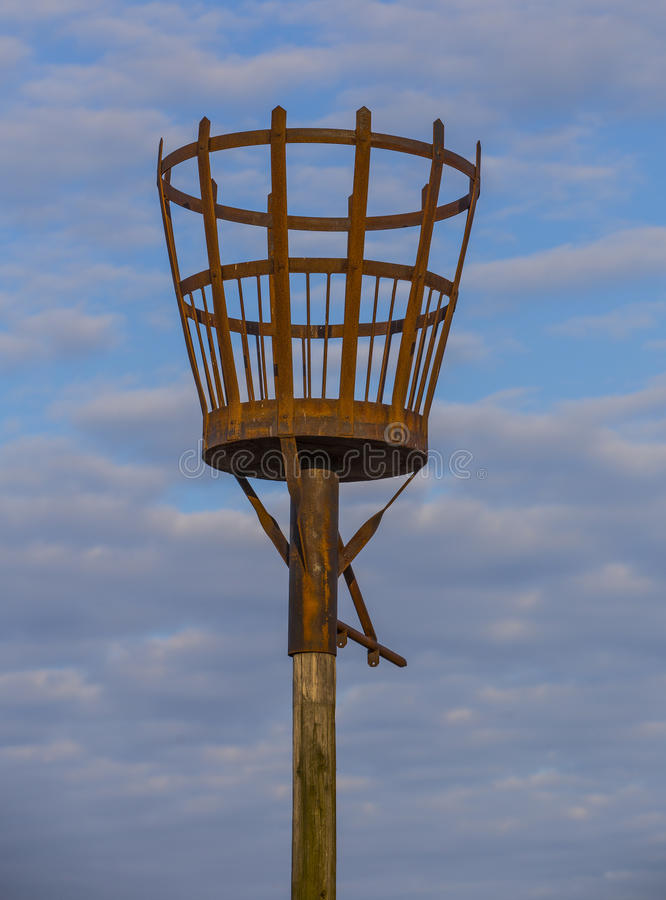 SKEGNESS, UK - 30 JULY 2016. Fire Beacon situated at Skegness Beach royalty free stock images