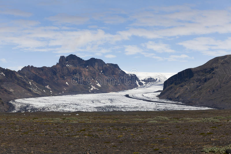 Skeiðarà ¡ rjökull冰川 免版税库存图片