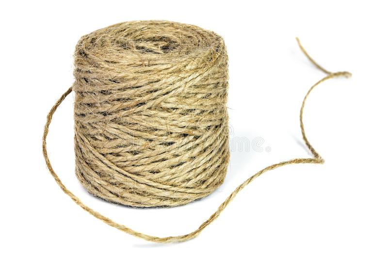 Skein of jute rope royalty free stock images