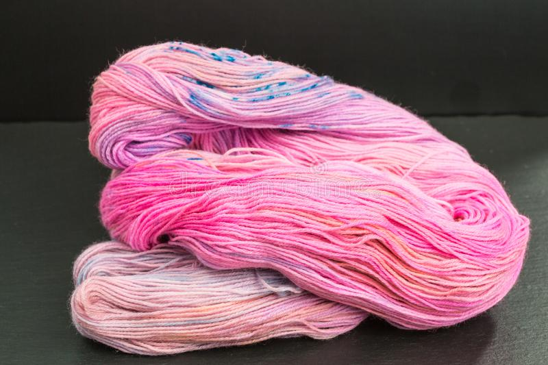Skein of pink wool stock photo