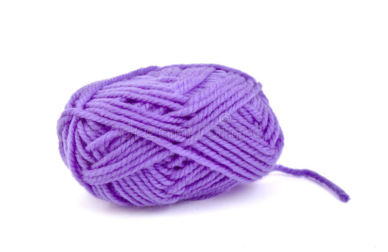 Skein of purple wool royalty free stock images