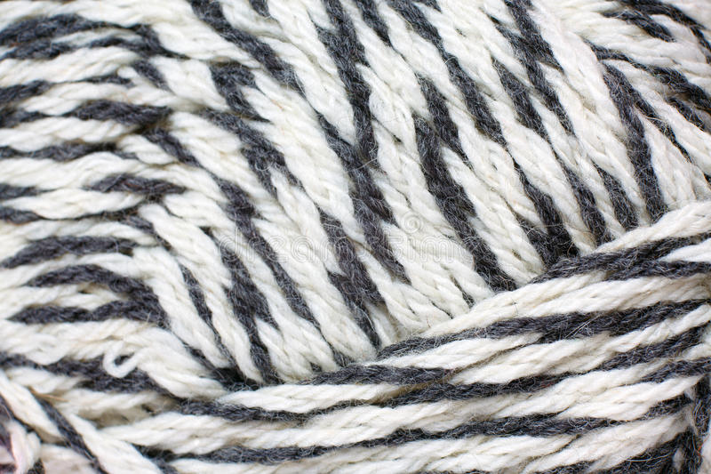 Skein of yarn melange closeup. As a texture stock image