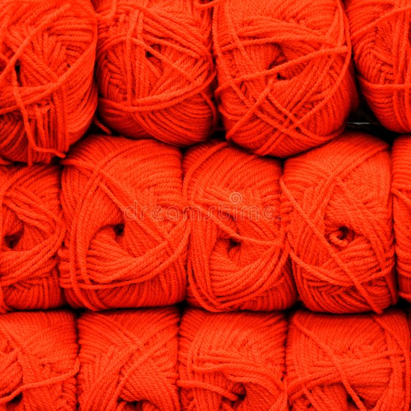 Skeins de lã de Colorfull foto de stock