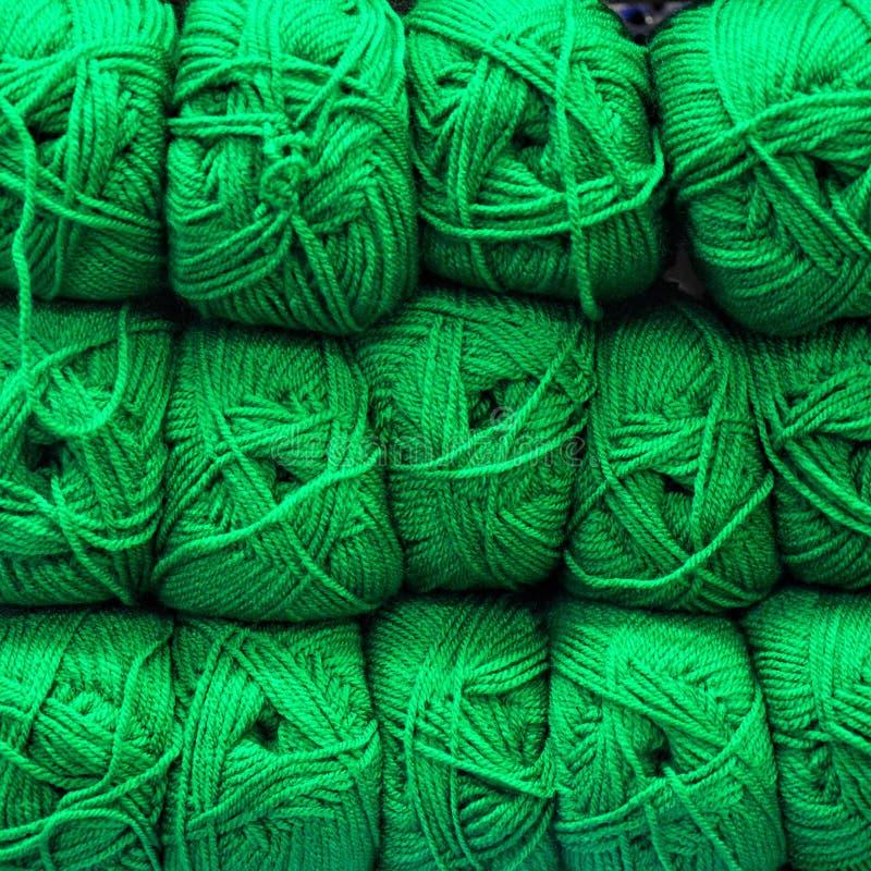 Skeins de lã de Colorfull foto de stock royalty free