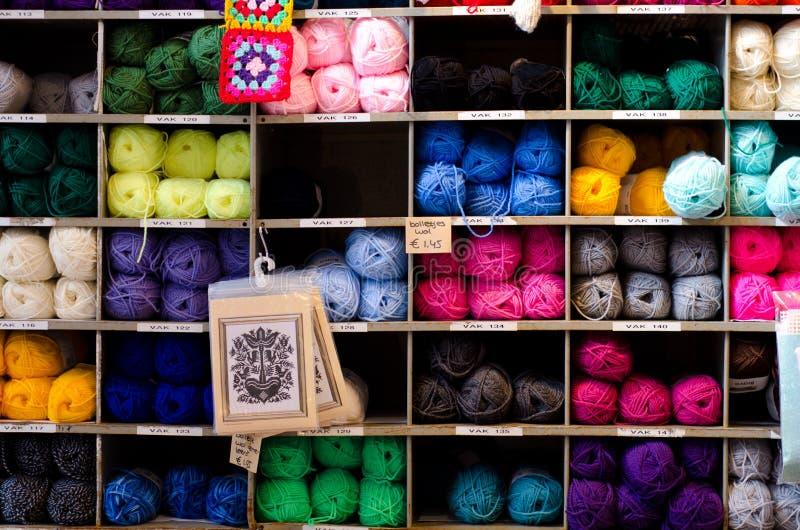 Skeins of yarn royalty free stock photos