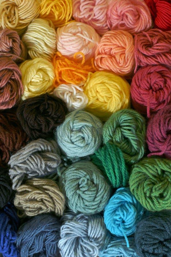 Skeins of Yarn - Vertical stock image