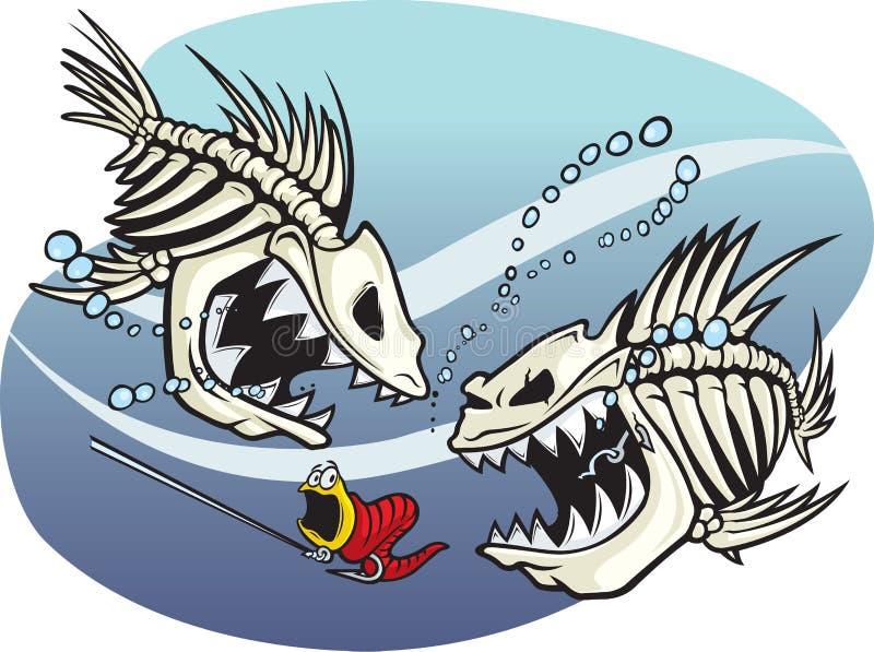 Skelefish stock illustratie