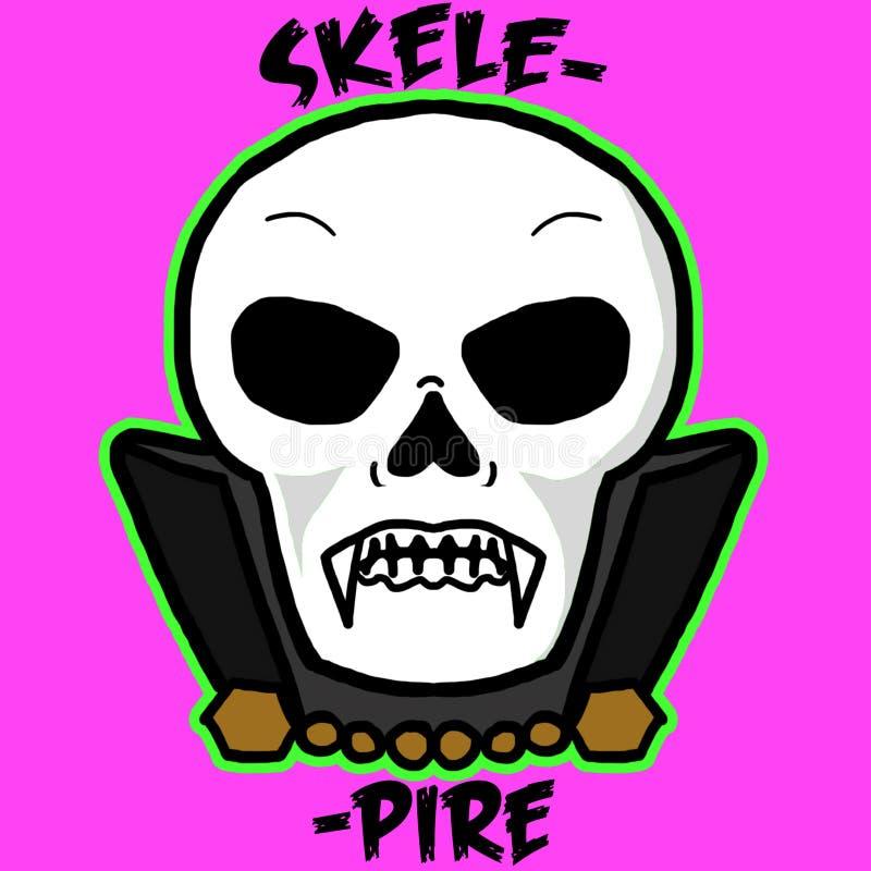 Skelepire, the Skeleton Vampire royalty free stock images