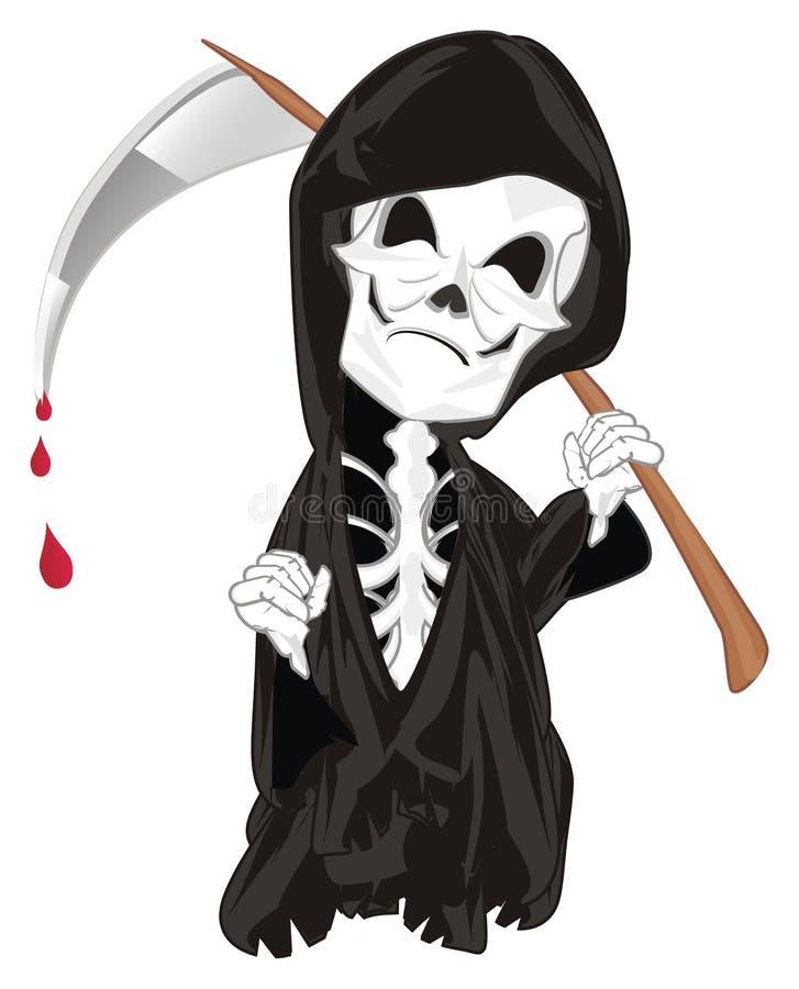 Skelet en bloed royalty-vrije illustratie