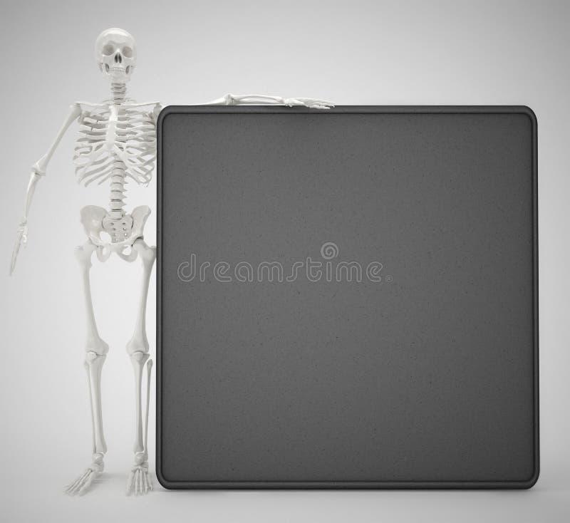 Skelet en bord vector illustratie