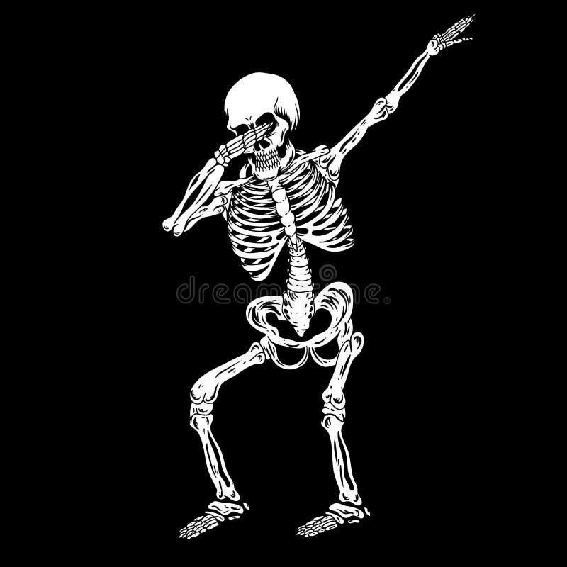 Skelet Menselijke bettende vectorillustratie royalty-vrije illustratie