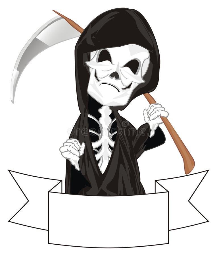 Skelet met lint vector illustratie