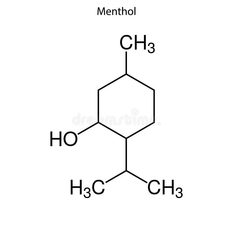 Skeletal formula of Chemical element royalty free stock photo