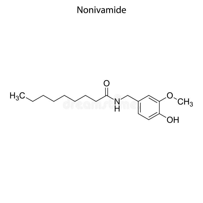 Skeletal formula of Chemical element stock image