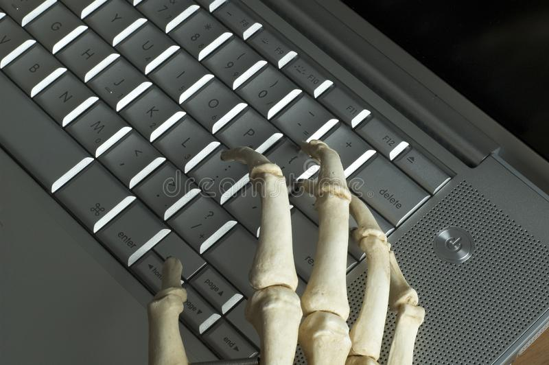 Skeletal hands royalty free stock photo