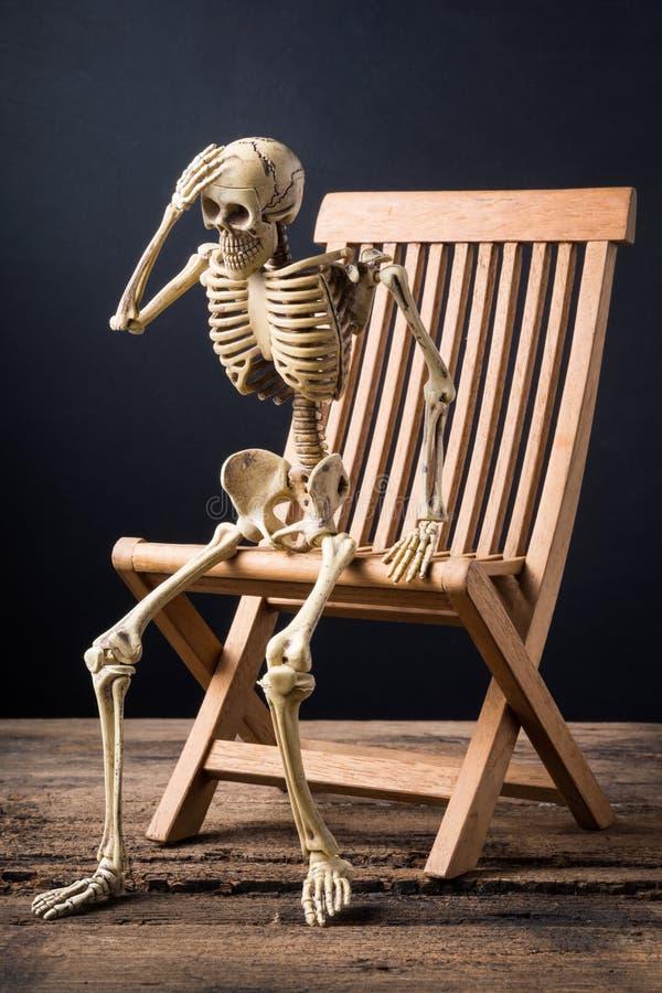 Skelethoofdpijn stock foto