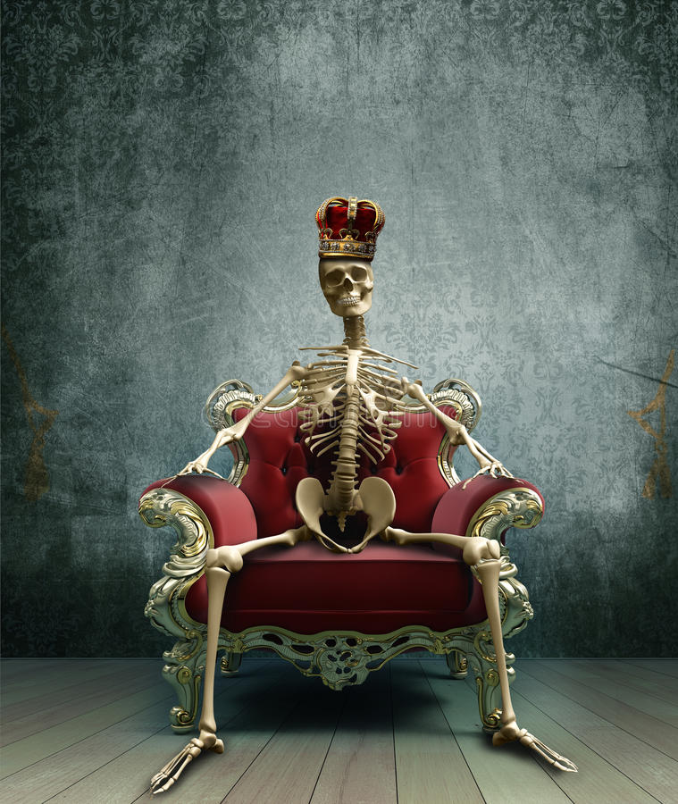 Skeletkoning stock illustratie