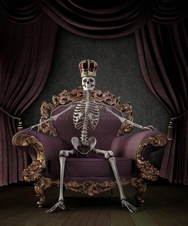 Skeletkoning vector illustratie