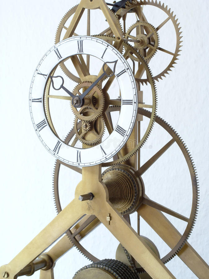 Skeleton Borduhrdetail stockbild