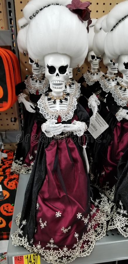 Skeleton bride stock photography