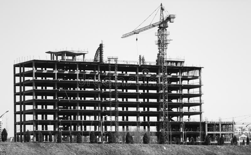 Download The skeleton of a building stock photo. Image of site - 24930820
