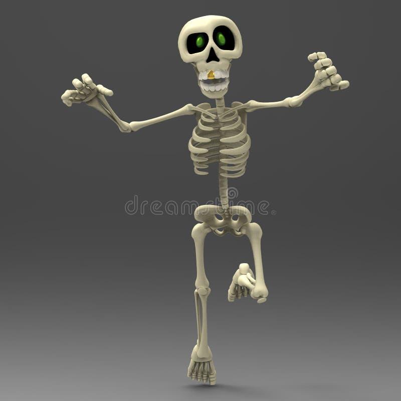 Skeleton cartoon is coming vector illustration
