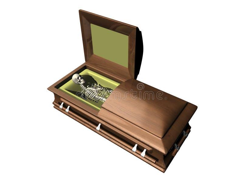 Download Skeleton In Casket On White Background Stock Illustration - Illustration of eternal, funeral: 5852384