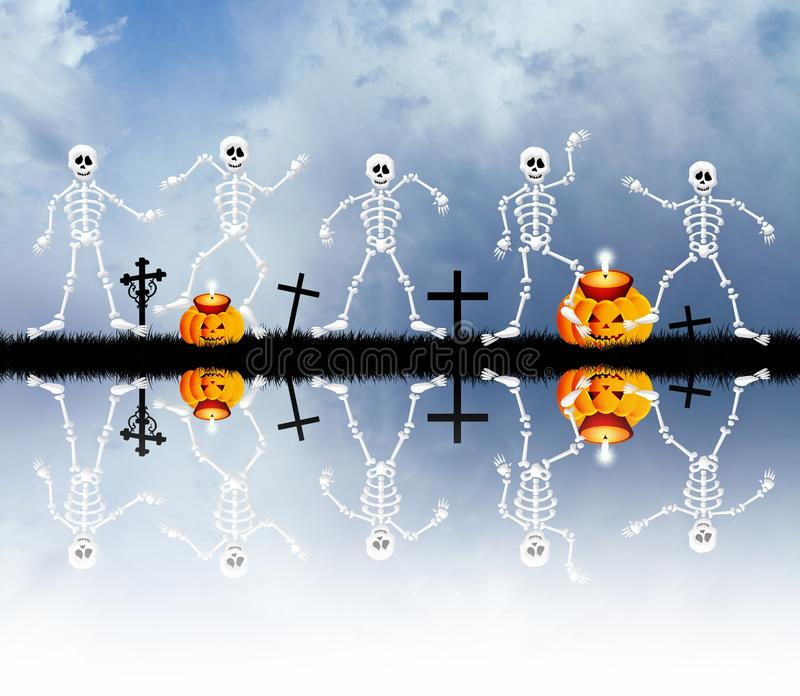 Download Skeleton In The Cemetery Royalty Free Stock Photography - Image: 33983607
