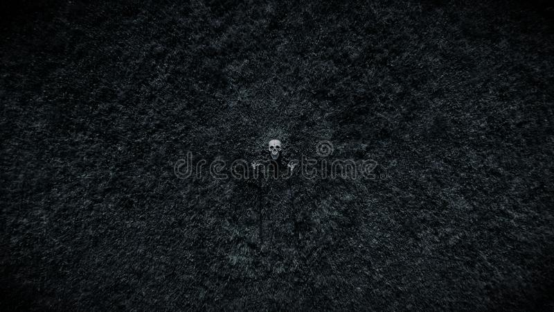 Skeleton From Earth Distant royalty free stock photography