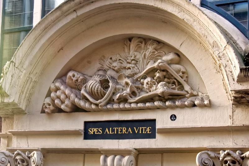 Skeleton Figure and Legend stock images