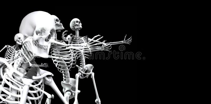 Skeleton Group 3 Royalty Free Stock Photo