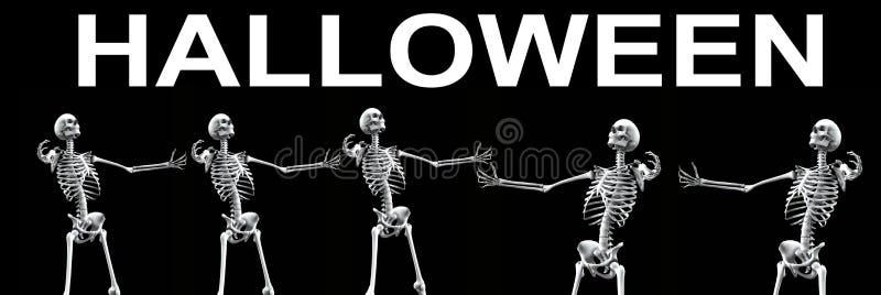 Download Skeleton Group Halloween 3 stock illustration. Illustration of halloween - 3218754