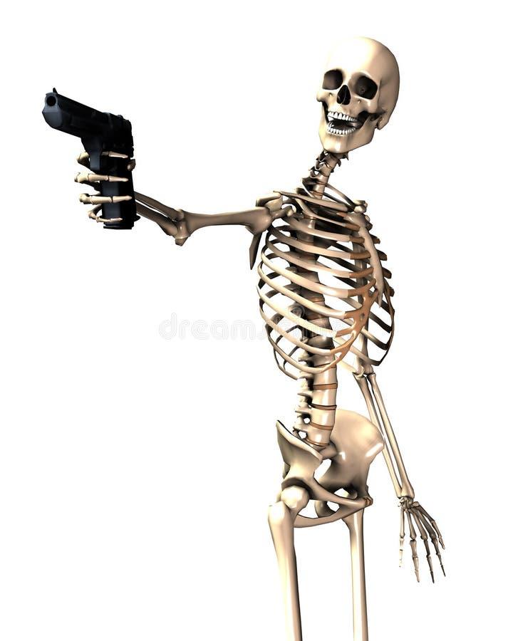 Download Skeleton And Gun 12 stock illustration. Illustration of criminality - 4580464