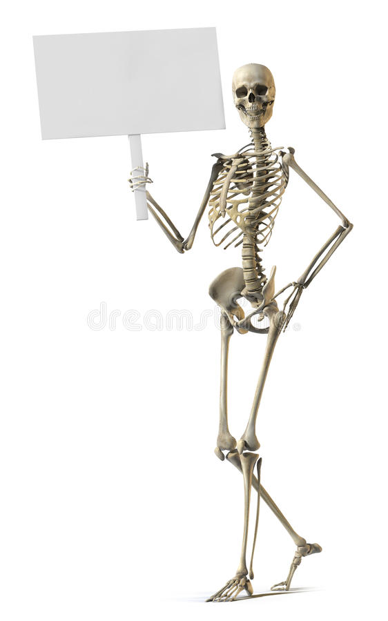 Free Skeleton Holding Sign Royalty Free Stock Images - 14395459