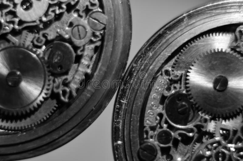 Skeleton hours. Antique antique clockwork, jewelry engraving. mechanical pocket watch close-up, selective focus. Mechanism with gears. clockwork skeleton royalty free stock photography