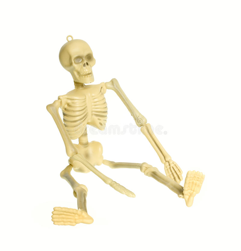 Skeleton isolated CLIPPING PATH royalty free stock photos