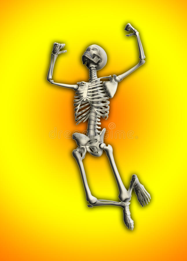 Download Skeleton Jumping stock illustration. Illustration of anatomy - 10817410