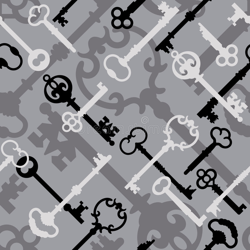Download Skeleton Key Pattern_Black-Gray Royalty Free Stock Photo - Image: 3722385